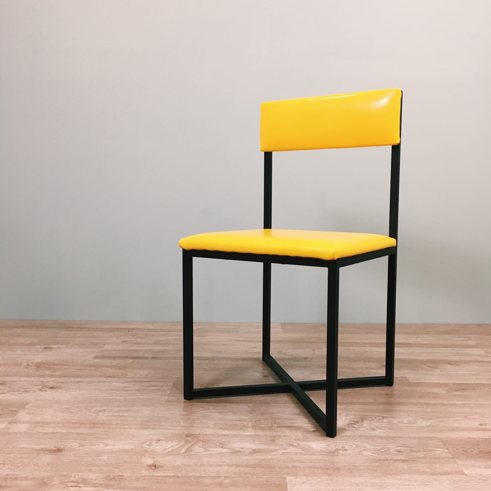 Стул Лофт-6, желтая экокожа