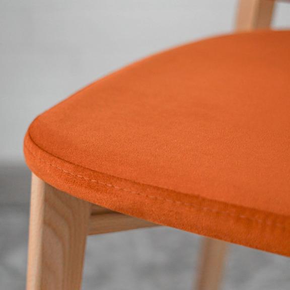 Стул Safir, велюр оранжевый, цвет каркаса-лак
