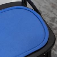 Подушка на стул овальная синяя