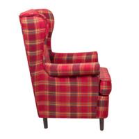 Кресло Дженкс, шотландская клетка, красная