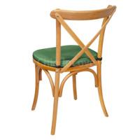 Подушка 01 для стула Кроссбэк, 3см, зеленая