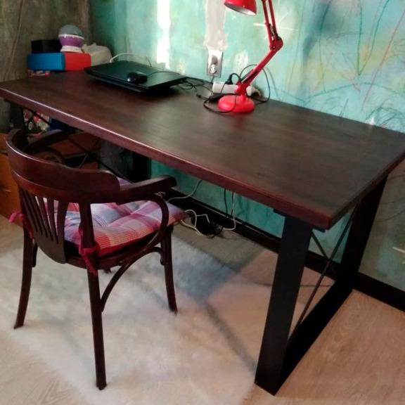 Стол Лофт 3 венге, Стул-кресло Венское с подушкой венге
