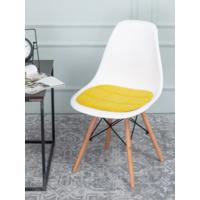 Подушка на стул, галета, велюр желтый