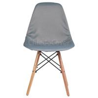 Чехол Е01 на стул Eames, серый переплетение