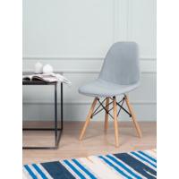 Чехол Е02 на стул Eames, уплотненный, велюр серый