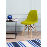 Чехол Е02 на стул Eames, уплотненный, велюр зеленый