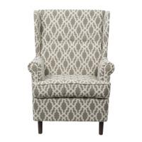 Кресло Дженкс, светло-серый, гобелен ромбы