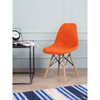 Чехол Е02 на стул Eames, уплотненный, велюр оранжевый