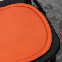 Подушка на стул овальная оранжевая