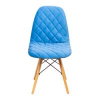Стул Eames V, мягкий велюр, морской голубой