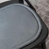 Подушка на стул овальная серая