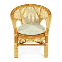 Плетеное стул-кресло Пеланги К коньяк