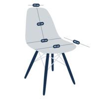 Чехол Е03 на стул Eames, серый