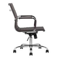 Кресло офисное TopChairs City S, коричневое