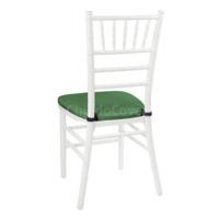 Подушка 01 для стула Кьявари, 3см, кожзам зеленый