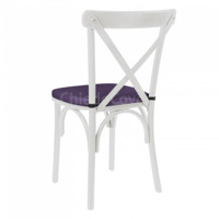 Подушка для стула Кроссбэк, фиолетовая