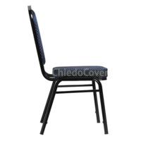 Стул Браун 25мм - черный, синяя корона