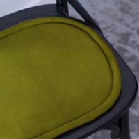 Подушка на стул овальная оливковая