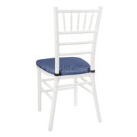 Подушка 01 для стула Кьявари, 3см, кожзам синий