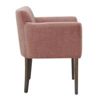 Кресло Камила, пыльно-розовый велюр