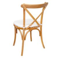 Подушка 01 для стула Кроссбэк, 3см, белая
