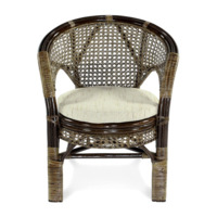 Плетеное стул-кресло Пеланги К браун