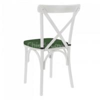 Подушка для стула Кроссбэк, 2см, зеленая