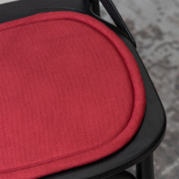 Подушка на стул овальная бордовая