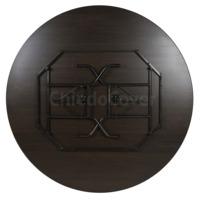 Стол Лидер 3, D1200, венге, черный