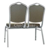 Секция стульев Хит - серебро, ромб синий