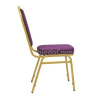 Стул Хит 20мм - золото, рогожка фиолетовая