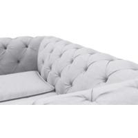 Диван Chesterfield Lux двухместный серый