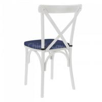 Подушка для стула Кроссбэк, синяя