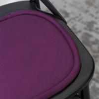 Подушка на стул овальная фиолетовая