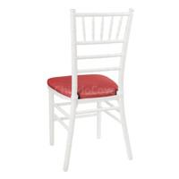 Подушка 01 для стула Кьявари, 3см, кожзам красный