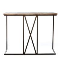 Барный стол Хайткросс каркас черный, столешница массив сосны, цвет морилка венге