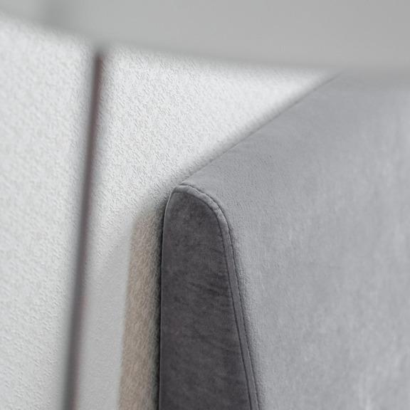 Диван Винтаж, серый микровелюр, ножки из бука, цвет венге